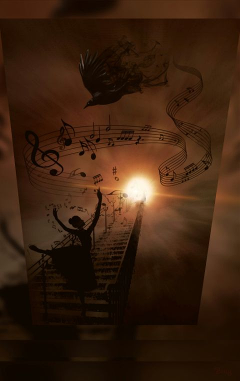 music emotion surreal moon love