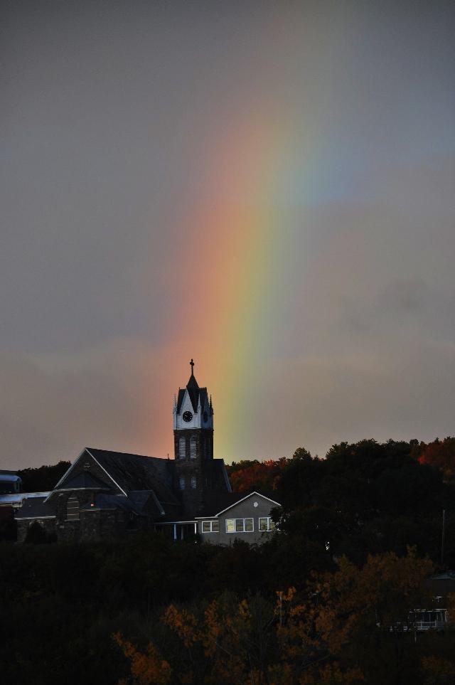 #autumn #morning #rainbow