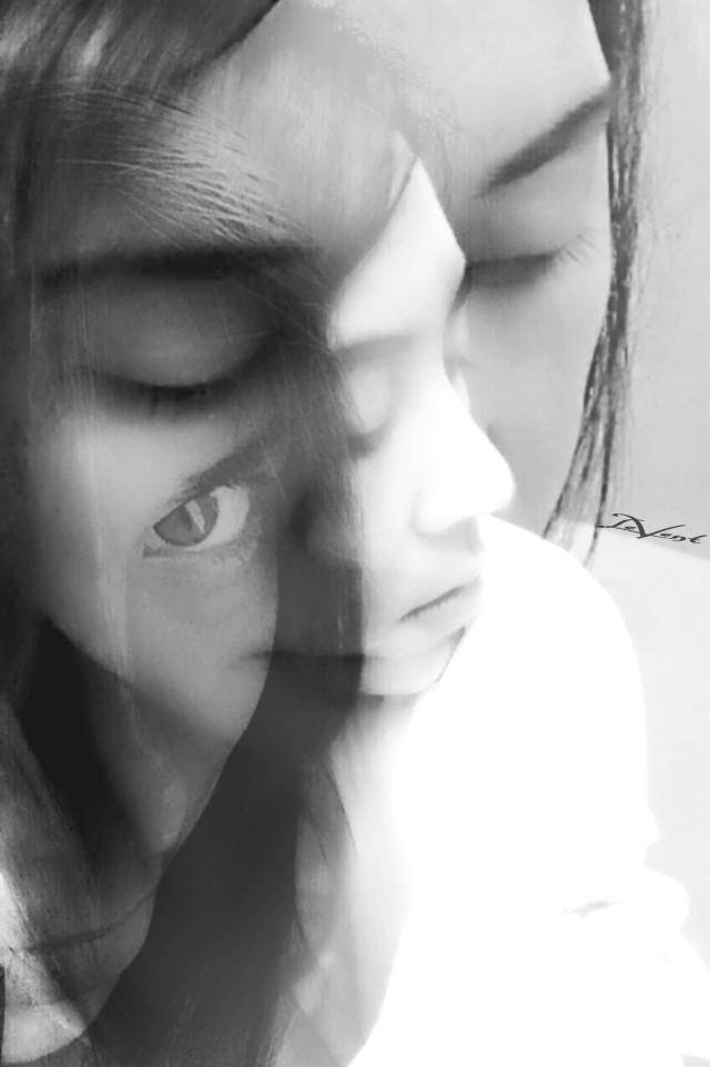 #emotions #me #selfportait #edited #dramaeffect #monochrome