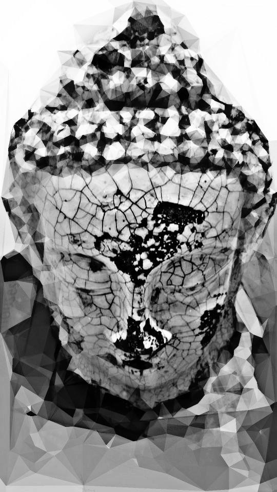 #monochrome  #blackandwhite #degrade #geometric