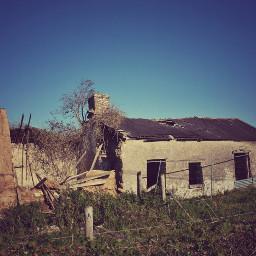old house ruined somewhere ireland