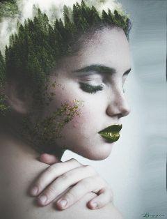 colorsplash edited dubleexposure girl artisticselfie