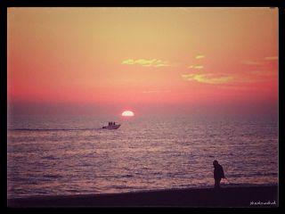 photography sunset beach sea boat