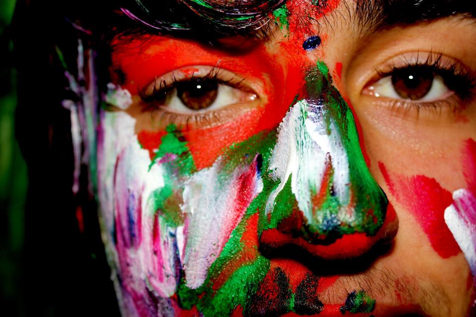 #Closeup #art #eyes #bodyart #painting #paint #photography #emotions #colorful