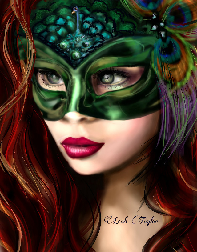#wdpeyes  Red Beauty ♡ #drawing #artwork #people #masquerade