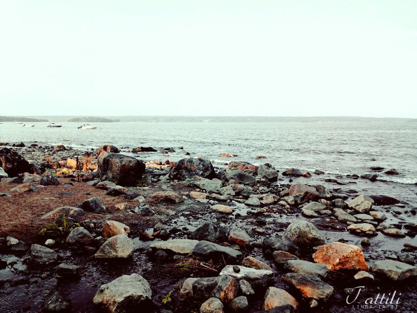 #sea #beach #water #stones #sand #mood #summer #vintage