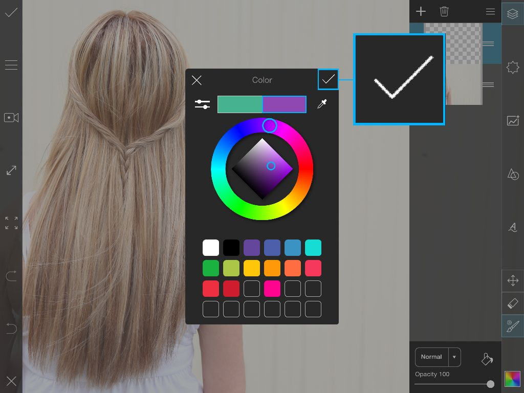 PicsArt color chooser