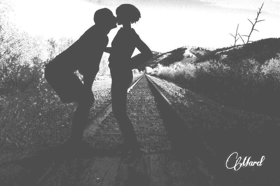#fterailway #love #black&white #freetoedit
