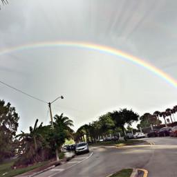 sky rainbow miami