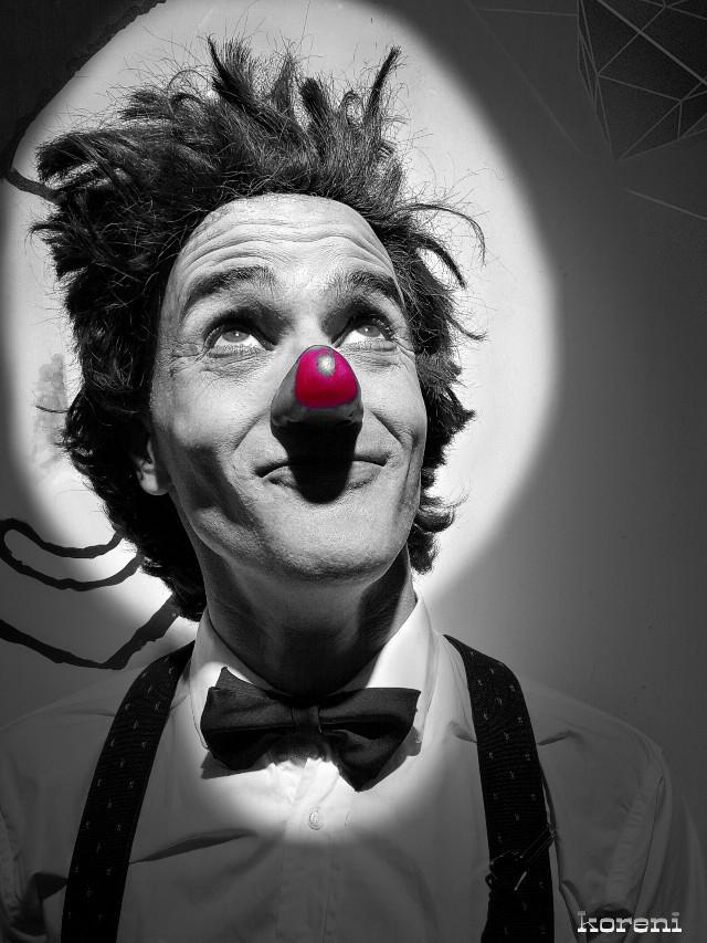 #clown #light #ilumination #happy #art #portrait #blackandwhite #freetoedit #photography