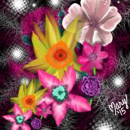 digitaldrawing digitalart flowers