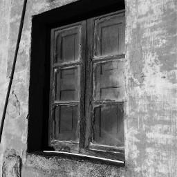 blackandwhite photography window old