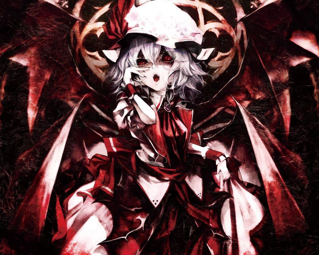Anime vampire girl scary fantasy image by cat
