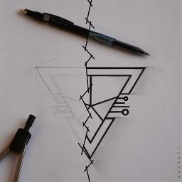 logo drawing pencilart design