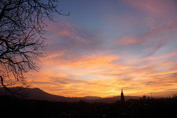 sunset bern switzerland colorful city