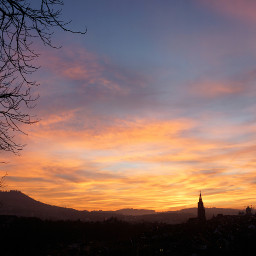 sunset bern switzerland colorful city