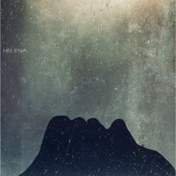snow artisticselfie grunge weathered silhouette