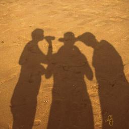 fun shadow sand footprints