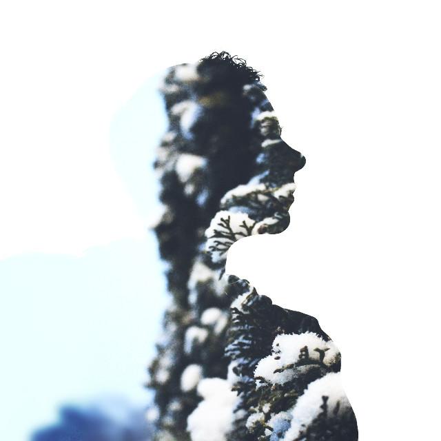 #frozen #snow #winter #doubleexposure #drama #nature #silhouette #artisticselfie