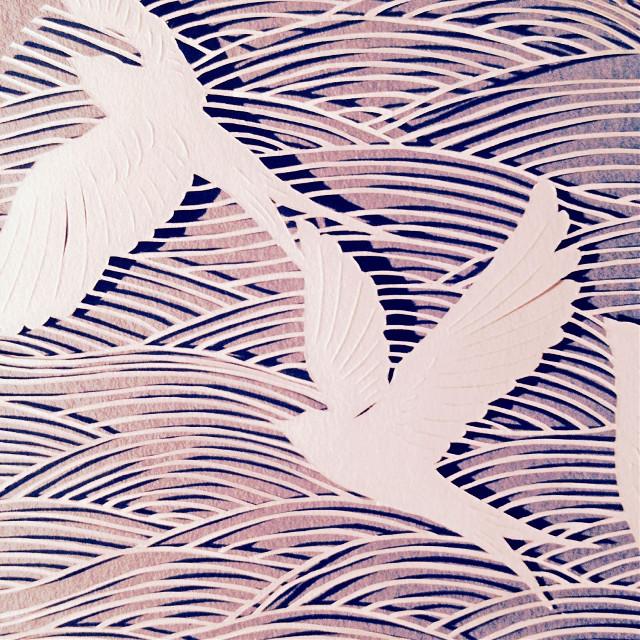 #interesting #art #artwork #paperart #paper #paperartist #papercutting #birds #waves #wind #wilderness #nature #free #flying #daydreaming #imagination #california