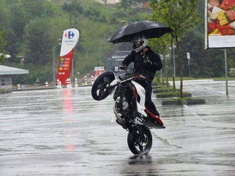 Управление мото под дождем