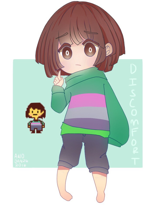 """Doodle of Chisk aaaaaaaaaa  When my friend drew this fused child, i instantly fell in love with the design and how it's """"Discomfort"""" ahaha!  Don't worry, I'm like 3/4 done with requests so hold on,, i have school lol.  #undertale #chisk #digital"""