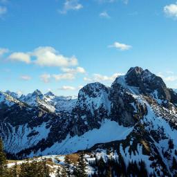 mountain nature bavaria mountains winter