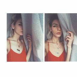 girl whitehair selfie art freetoedit