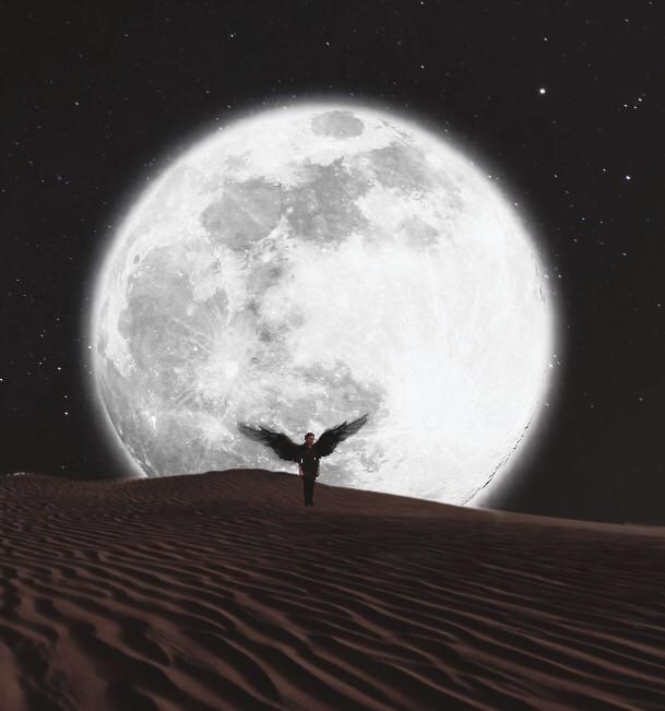 #moon #sky #desert #edit