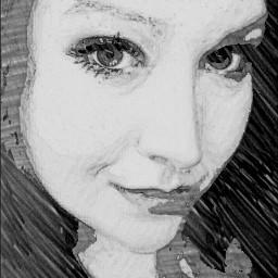 blackandwhite people eyes selfportrait sketchyedit