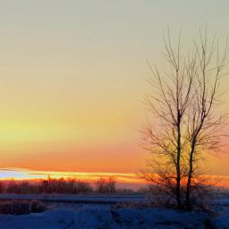 rays snow sunsets