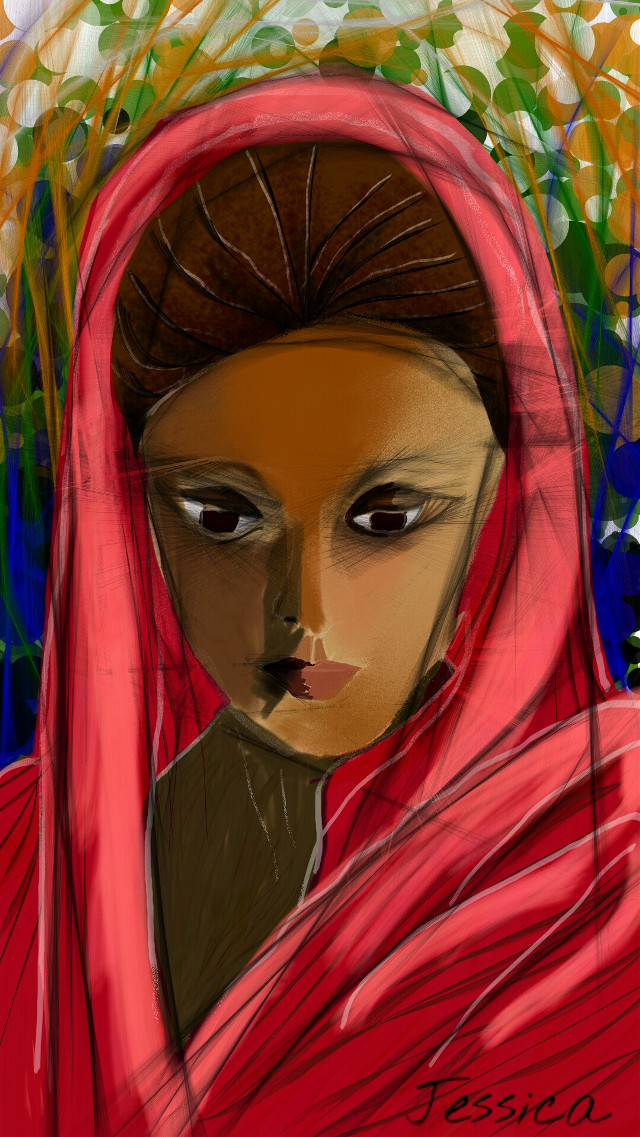 A finger painting dedicated to women all over the world ! Stay happy, stay confident, stay beautiful !!!  #art #createdbyme #createdonandroid #wdpwomenportraits #woman #potrait