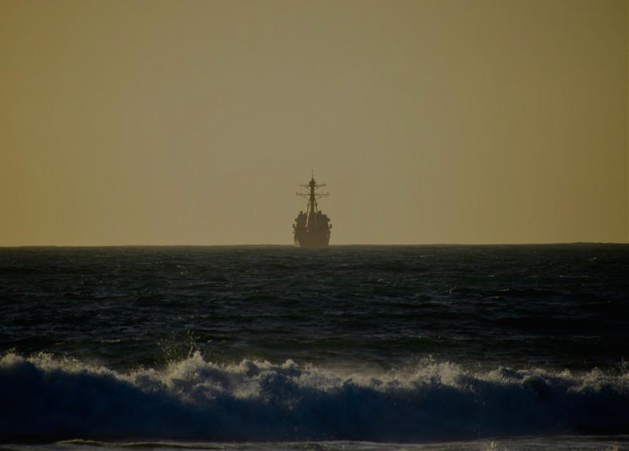 Pirate   #landscape#art#ocean#ship#freetoedit