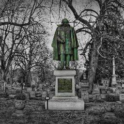 cemetery graveyard statue monument blackandwhite