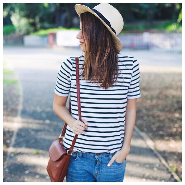 Striped tee. #springstyle #ootd