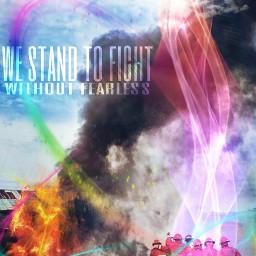 waprainbows firefighters fire rainbow popart