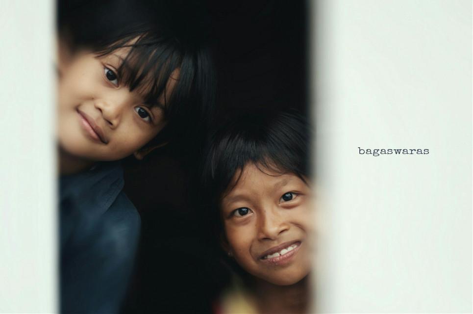 Citra & Arum  #portrait #happy #freetoedit  #children #photography