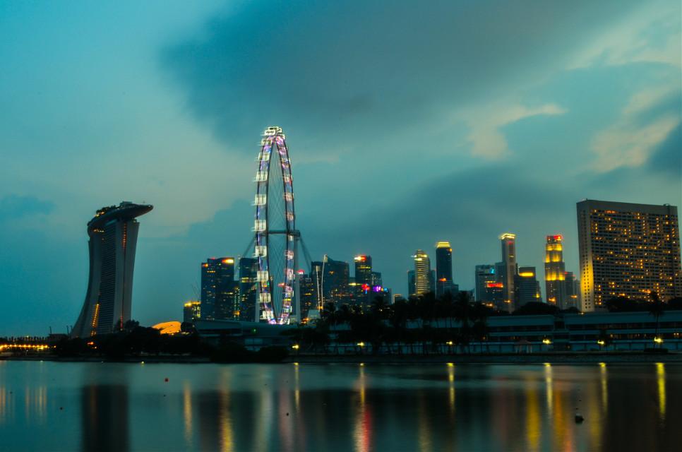Marina bay #popart #photography #cityscape
