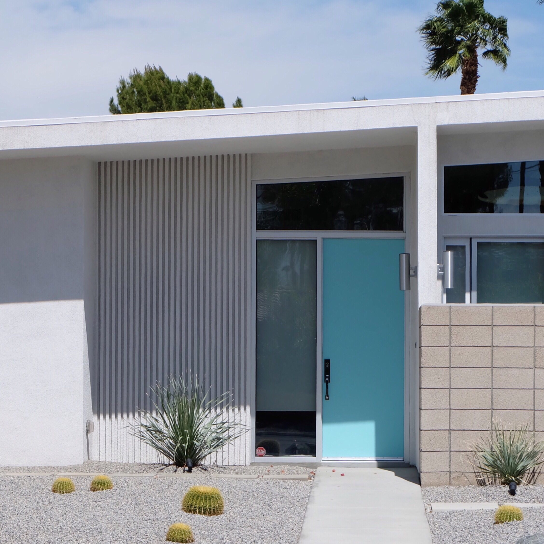 #Houseplants #minimal #retro #architecture #midcentury #tiffanyblue