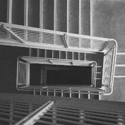 blackandwhite stairs