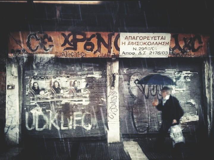 Rainy day  #rain  #photography #winter #thessaloniki #greece #picsart #oldman