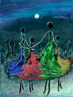 colorful love nature people moon