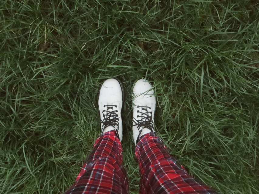 #fashion   #photography  #drmartens  #shoes  #style  #green  #red  #white  #grass