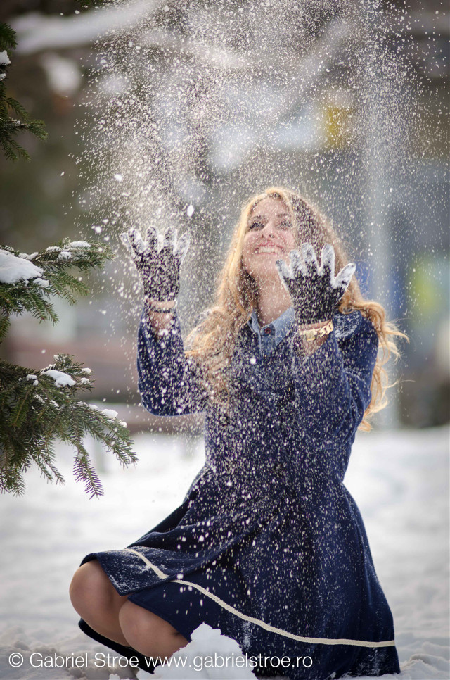 #winter #blue #dress#blond#hair#cute #colorful #baby #love #nature #photography #cute #emotions