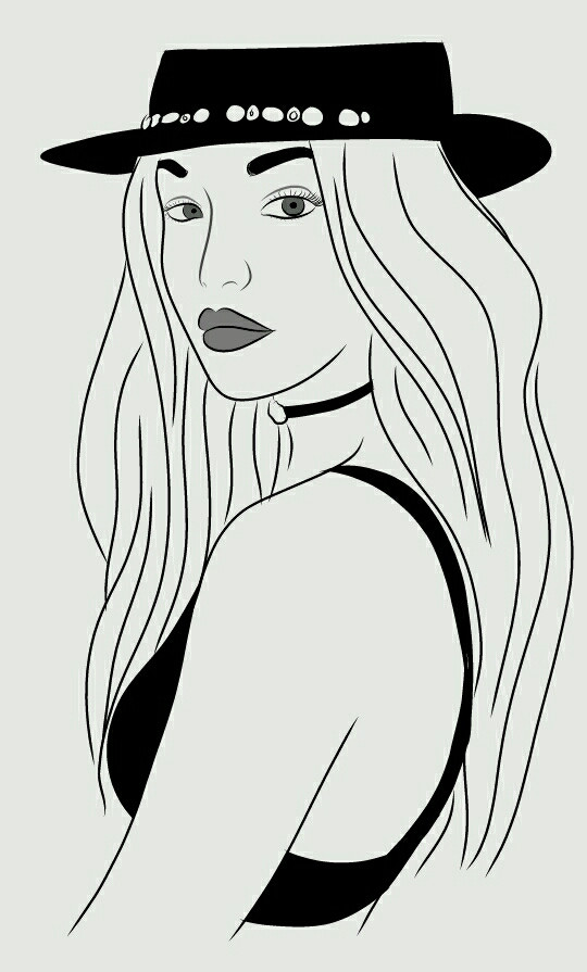 #FreeToEdit #gigi #gigihadid #tumblr #tumblroutlines #outlines #drawing