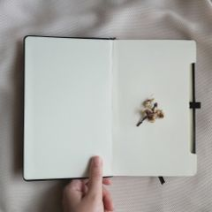 freetoedit minimal notebook hand flower