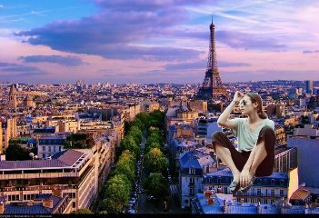 remixme paris eiffeltower girl