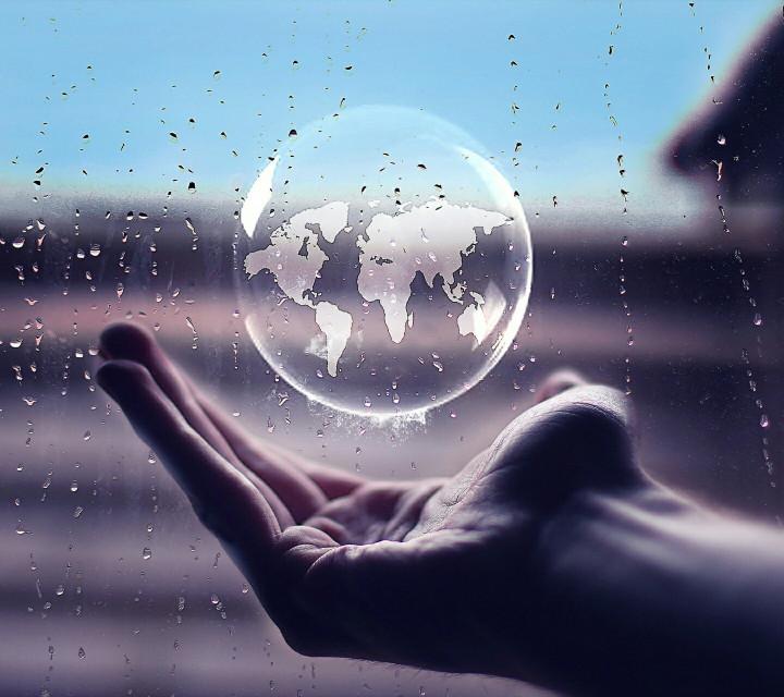 #globe #raindrops  #freetoedit