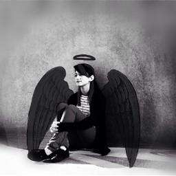 blackandwhite wings freetoedit