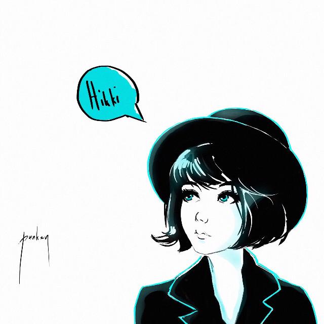 Hiki komori  #art #hikki #drawing #painting #photoshop #anime #manga #popart #fashion #monochrome #comics